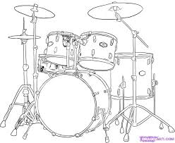 how to draw a drum set cool drums pinterest drum sets