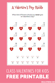 valentines1000 photo album these valentines for kids as a math