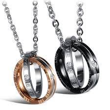 couple necklace chains images Uhibros his hers matching set titanium stainless steel couples jpg