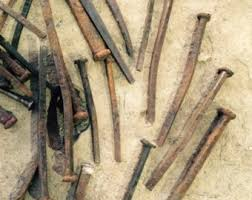 items similar to 20 antique primitive rusty square head nails for