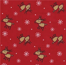 reindeer fabric snowflakes 0 5m fabric