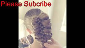hair plait with chopstick cage braid ponytail popular braids cute girls hairstyles