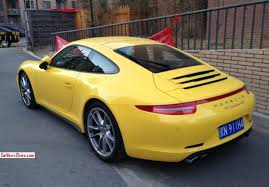 Porsche Cayenne Yellow - porsche 911 is yellow with a license in china carnewschina com