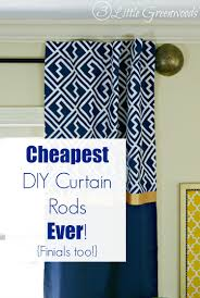 Diy Cheap Curtains Diy Curtain Rods Finials