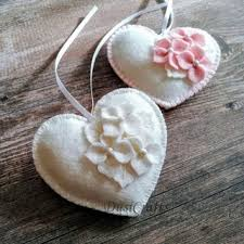 for wedding dusi ustvarja wool felt hearts for wedding decoration