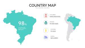 World Map South America by South America Map For Powerpoint U0026 Keynote Presentation Shop