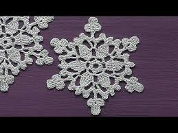 crochet motif snowflake ornament crochet tutorial decoration for