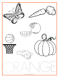 orange color activity sheet within coloring pages and activities