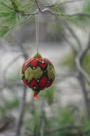 Waldorf Christmas Decorations Felted Ornaments Christmas Blue White Snowflake Design Christmas