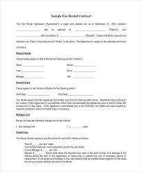 car rental agreement free printable rental agreements free