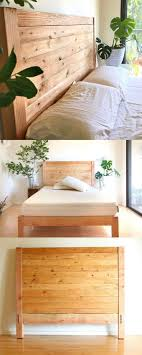 diy headboards for king size beds easy and beautiful wood diy headboard a piece of rainbow