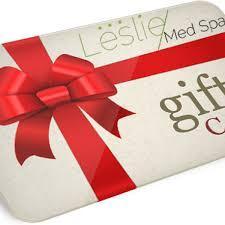 spa gift cards leslie med spa gift card leslie med spa