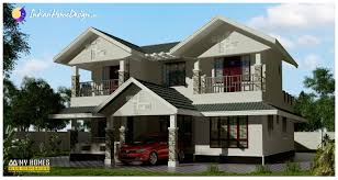 2100 sqft 3 bedroom traditional sloping roof kerala home design by