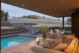 Terrace Dining Room Outdoor Sofa Dining Table Pool Terrace House In Johannesburg