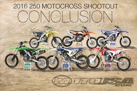 top motocross bikes 2016 250 motocross shootout conclusion motorcycle usa