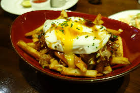 public house 3 las vegas nv endo edibles poutine french fries duck confit cheese curd stout gravy fried egg