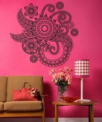 vinyl wall decal sticker floral henna os dc706