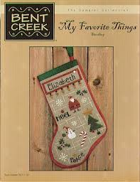 bent creek my favorite things cross stitch pattern a
