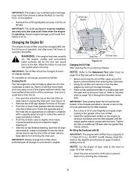 changing the engine oil cub cadet slt1554 user manual page 20 40