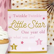 twinkle twinkle birthday twinkle twinkle girl 1st birthday party supplies