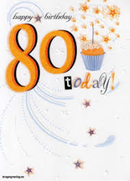 new happy 80th birthday greeting card flowers throughout happy