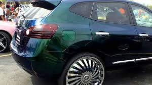 Nissan Rogue Green - nissan rogue on 26 u0027s with flip flop paint youtube