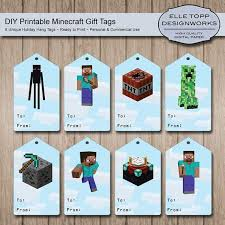 5 best images of minecraft printable birthday tag minecraft