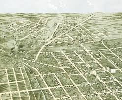 Knoxville Tennessee Map by Knoxville Tennessee In 1871 Bird U0027s Eye View Map Aerial