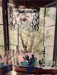 Pottery Barn Austin Hours Emery Recycled Glass Chandelier By Pottery Barn Chandeliers
