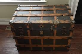 Pennsylvania Travel Steamer images Wood metal steamer trunk vintage antique farmhouse w h l lebanon jpg
