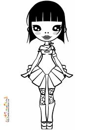 coloriage de fille doll2 sur tête à modeler