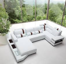 massimo modern white leather sectional sofa leather sectional