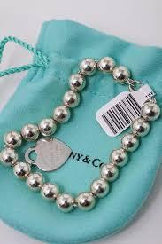 tiffany beaded bracelet images Tiffany co sterling silver heart pearl bead bracelet tradesy jpg