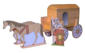 papermau roman chariot paper model for works dioramas
