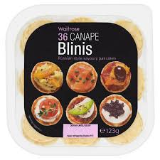 bellini canape blinis canape waitrose from ocado