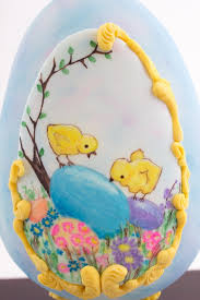 Easter Eggs Decorated With Fondant by An Easter Egg Cake That U0027ll Make Jaws Drop