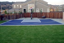 appealing small backyard basketball court dimensions images ideas