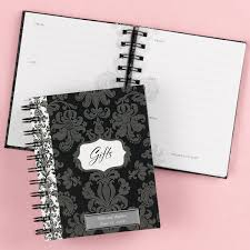 wedding gift registry book damask bridal shower gift record book