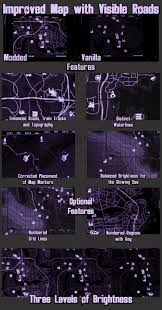 Fallout 3 Map Markers by Improved Map With Visible Roads At Fallout 4 Nexus Mods And