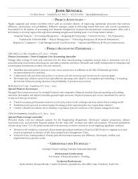 Professional Accounting Resume Samples by Example Project Accountant Resume Free Sample