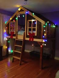 bed lighting fun ideas pottery barn tree house bed best house design