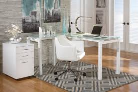 White L Desk by Barga Home Office Swivel Desk Chair By Ashley