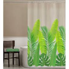 Palm Tree Shower Curtain Walmart by Stunning Shower Curtain Leaves With Additional Interdesign Leaves