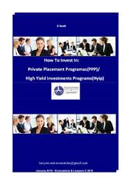 e book english how to invest in private placement programs ppp