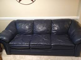 Navy Blue Leather Ottoman Navy Blue Leather Sofa Chair W Ottoman Non Fishing