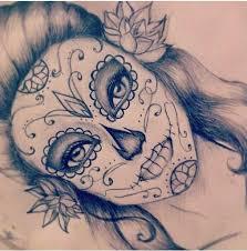 sketches of sugar skulls google search sugar skull pinterest
