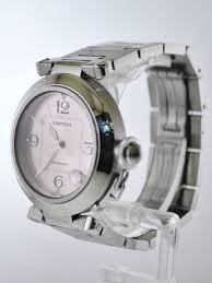 stainless steel cartier bracelet images Pasha de cartier 2324 automatic wristwatch pink dial link JPG