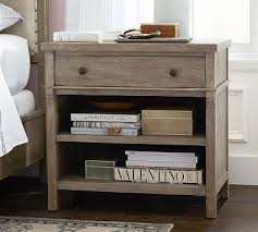 pottery barn bedside table toulouse bedside hewn oak toulouse bedrooms and master bedroom
