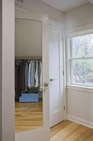 Single Mirror Closet Door Furniture Unicareplus White Bedroom Glass Modern Mirrored Closet