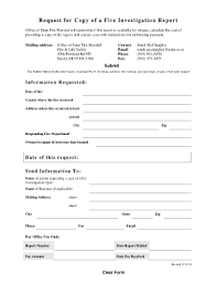 fire investigation report form fillable fill online printable